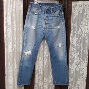 VTG Levi's 501 Button Fly Distressed Grunge Jeans